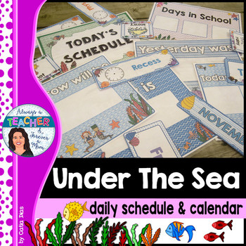 Under The Sea Classroom Theme - Daily Schedule and Calendar