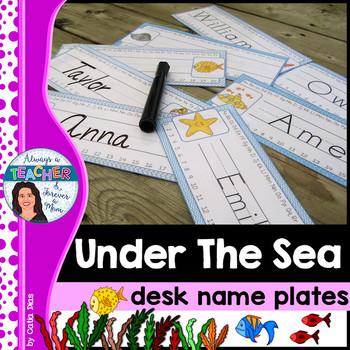 Under The Sea Classroom Theme - Desk Plates