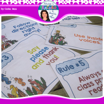 Under The Sea Classroom Theme - Editable Classroom Rules
