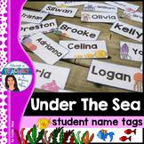 Under The Sea Classroom Theme - Editable Name Tags