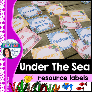 Under The Sea Classroom Theme - Resource Labels