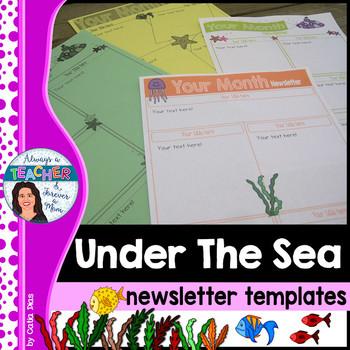 Under The Sea Classroom Theme - Editable Newsletter Templates