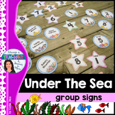 Under The Sea Classroom Theme - Group Signs with EDITABLE text fields