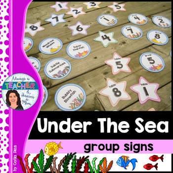 Under The Sea Classroom Theme - Group Signs
