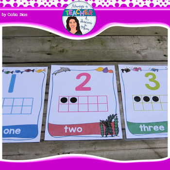 Under The Sea Classroom Theme - Numbers Posters