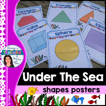 Under The Sea Classroom Theme - Shapes Posters