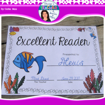 Under The Sea Classroom Theme - Student Awards with EDITABLE text fields