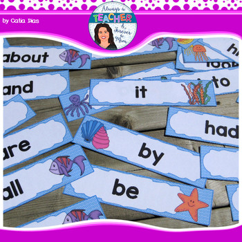 Under The Sea Classroom Theme - Word Wall - Fry 1-300