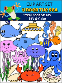 Under The Sea Clip Art - Fish, Sea Horses, and More