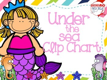 Under The Sea Clip Chart (ocean themed)