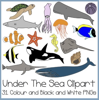Under The Sea Clipart (Finding Nemo Inspired)