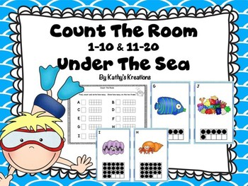 Under The Sea Count The Room 1-10 & 11-20
