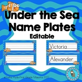 Under The Sea Editable Name Plates