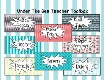 Under The Sea Editable Teacher Toolbox