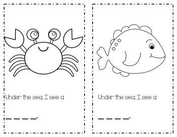 Under The Sea Emergent Reader