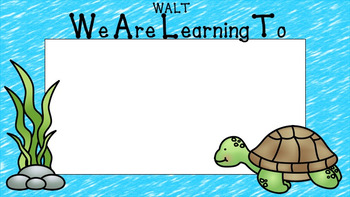 Under The Sea Learning Intention Sample