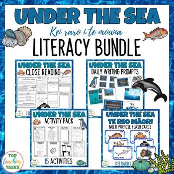 Under The Sea Literacy Bundle New Zealand Reading Writing Te Reo Māori
