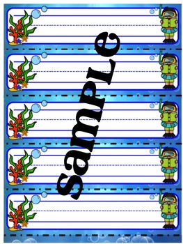 Under The Sea Name Tags