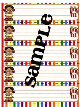Popcorn / Movie Night Name Tags