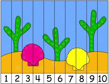 Under The Sea Number Sequence Puzzle