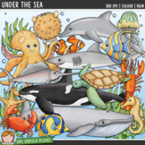 "Ocean Animals  / Sea Creatures Clip Art: ""Under the Sea"""