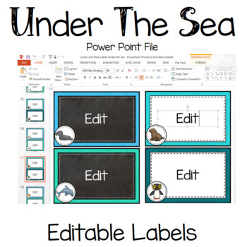 Under The Sea Ocean Theme Editable Desk Locker Lables Classroom