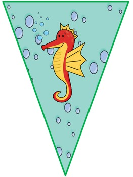 Under The Sea Ocean Theme Pennant Banners