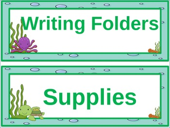 Under The Sea Ocean Themed Table headers/ Hall Passes/ Room Labels