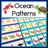 Ocean Patterns Math Center with AB, ABC, and ABB Patterns