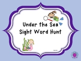 Under The Sea Sight Word Hunt