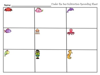 Under The Sea Subtraction - Regrouping Up to 2 Times