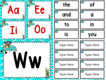 Under The Sea Word Wall And 200 Fry Words