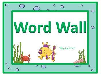Under The Sea Word Wall Headers