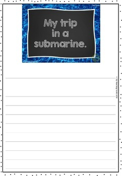 Under The Sea Writing Prompts NZ PowerPoint Journal and Worksheet