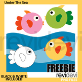 Under The Sea clip art free download - free fish clipart