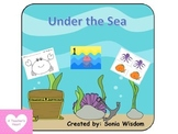 Under The Sea - file folder/color sheet/counting packet