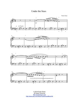 Under The Stars - Easy Piano Sheet Music