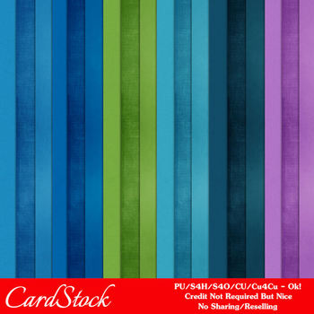 Under Water A4 size Card Stock Digital Papers by MarloDee Designs