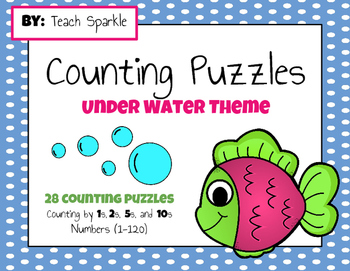 Under Water Counting Puzzles (Numbers 1-120)