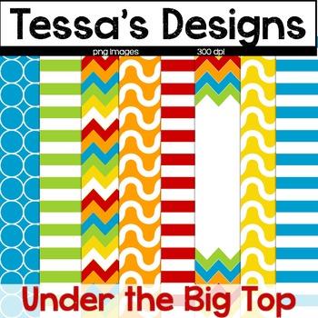 Under the Big Tent {Digital Paper Pack}
