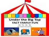 Preprinted/No Prep! Under the Big Top Fact Family Fun 6x 7x 8x 9x