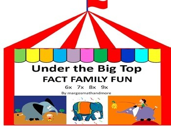 #backtoschool Preprinted Under the Big Top Fact Family Fun 6x 7x 8x 9x