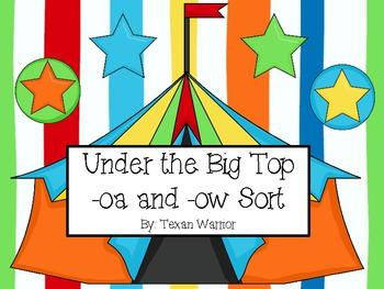 Under the Big Top Long O Word Sort