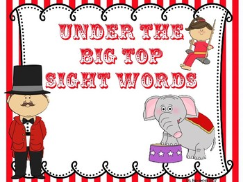 Circus - Under the Big Top Sight Words
