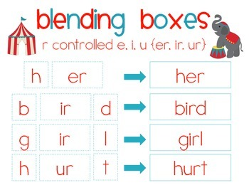 Under the Big Top! {r controlled vowels er, ir, ur} Word Work