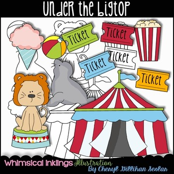 Under the Bigtop Circus Clipart Collection