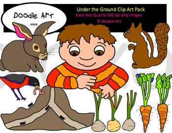 Under the Ground Clipart Pack