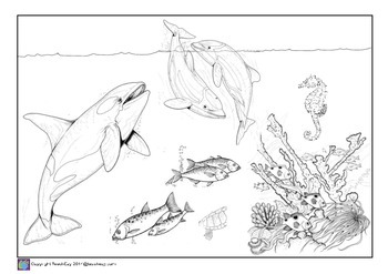 Under the Ocean Coloring pages