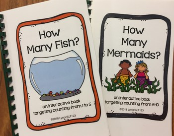 Under the Sea: 2 Interactive Books for Counting