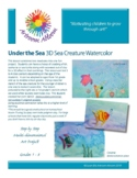 Under the Sea 3D Sea Creature Watercolor